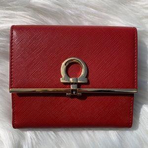 Salvatore Ferragamo Calfskin Leather Red Wallet